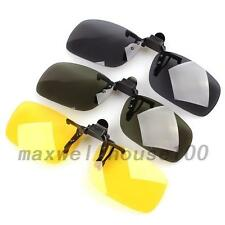 Home UV 400 Polarized Flip-up Sunglasses Myopia Goggles Glasses Clip-on Mirror
