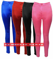 I22 Womens Legging Skinny Disco Pants American Ladies High Waisted Trouser New