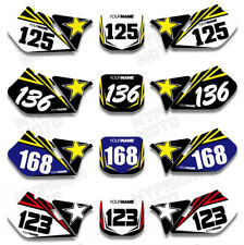 For SUZUKI RM125 RM250 125 250 1999 2000 Custom Number Plate Background Graphic