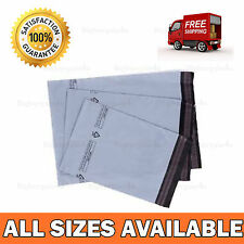 ALL SIZE X 50 BAGS GREY PLASTIC SELF SEAL MAILING BAGS  POSTAL STRONG LARGE