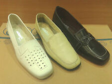 New Womens Leather Moccasin Loafers Flat Anatomic Shoes Aerosole Flex Wedge Size