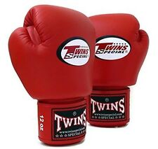 MUAY THAI KICK BOXING GLOVES TWINS SPECIAL MMA 8 10 12 14 16 18 OZ BGVL-3 RED