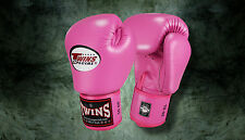 MUAY THAI KICK BOXING GLOVES TWINS SPECIAL MMA 8 10 12 14 16 18 OZ BGVL-3 PINK