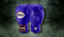 MUAY THAI KICK BOXING GLOVES TWINS SPECIAL MMA 8 10 12 14 16 18 OZ BGVL-3 BLUE