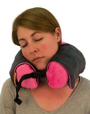 Foam Neck Rest Support Pillow Pink Cushion Home Car Plane Travel - Memory foam