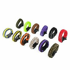 Climbing Rope Survival Parachute Cord Bracelet Outdoor Paracord Gear Buckle