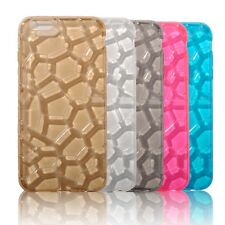 New Ultra Thin Clear Water Cube TPU Soft Rubber Case Cover for iPhone 5s 6s Plus
