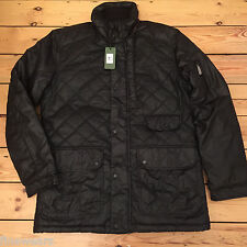 Mens Feraud Quilted Waxed Cotton Jacket Coat  Black S & M RRP£379.00