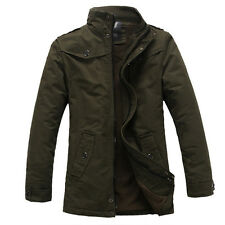 Mens Coat Military Cotton Fleece Winter Warm Jacket Outerwear Thicken Padded Top