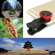 Universal 3in1 Clip On Camera Lens Kit Fisheye +Wide Angle +Macro for Phone SX