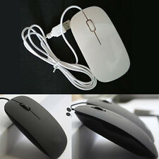 Ultra Thin Slim USB Optical Wired Mouse Mice for PC Laptop Windows Apple Macbook