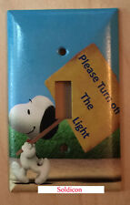 Peanuts Snoopy Turn off the Light Switch Power Outlet Cover Plate Home Decor