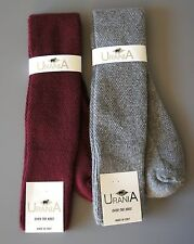 NWT URANIA MADE IN ITALY- OVER THE KNEE ANGORA WOOL RIBBED SOFT SOCKS-ONE SIZE