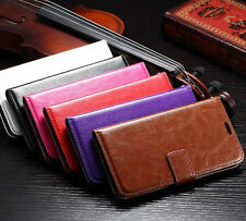 LEATHER WALLET STAND CASE COVER FOR VARIOUS MOBILE PHONE + SCREEN PROTECTOR
