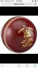 GM Super County 4 Piece Red Cricket Leather Ball 1/2/3/6/12 +AU Stock +Free Ship