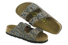 Papillio Leather Arizona $179rrp Leopard Antique 42 Narrow BNIB