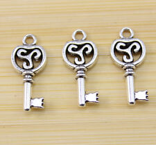 wholesale:30/60/100 pcs Very lucky Tibetan silver key charms pendant 22x10 mm