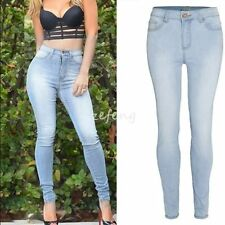 HOT Sexy Women Denim Skinny Pants High Waist Stretch Jeans Slim Pencil Trousers