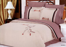Queen/Full Size Comforter Bedding Set Duvet Cover/Sheets Embroidary Baseball