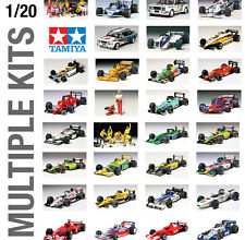 TAMIYA 1/20th RACE CAR PLASTIC MODEL KIT BUILD YOURSELF - ALL SETS!