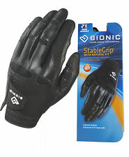 1 x BIONIC StableGrip Natural Fit Golf Glove - Right & Left Hand BLACK