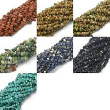 "34"" Natural Gemstone Freeform Chip Beads Fit Bracelet Necklace Gift DIY 5-8MM"