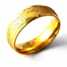 Fashion jewelry vintage Mens Yellow Gold Filled dragon Band Ring Size7 8 9 10 11