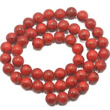 8mm Round Loose Spacer Red Turquoise Stone Beads For Necklace Bracelet Making