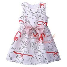Children Girls Spring Floral Dress Kids Sundress Clothes With Bow Princess Dress