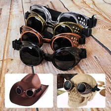 Vintage Cosplay Steampunk Goggles Glasses Welding Cyber Punk Gothic Rave Lens