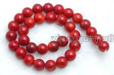 "SALE Big 12-13mm round High quality Red natural Coral loose beads strand 15""-639"