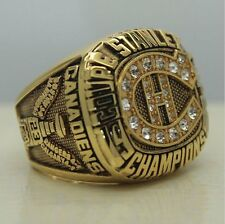 1986 Montreal Canadiens Stanley Cup Championship ring 'ROY' size 9-13 Back Solid