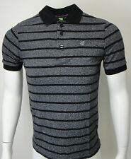 MENS GIO GOI BLACK STRIPED SHORT SLEEVE TOP STYLE PRIMATE SIZE S/L/XL