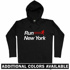 Run New York V2 Hoodie - NYC City NY Running Runner Fitness Athlete - Men S-3XL