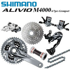 Shimano ALIVIO M4000 9-Speed MTB Bike Groupset with Crankset Derailleur Cassette