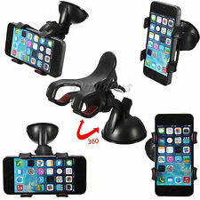 Car Windshield Suction Mount Rotating Stand Holder Cradle For iPhone Smart Phone