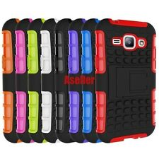 For Samsung Galaxy J1 3D 2-Layer Shock Skip Proof Grenade Rugged Impact Case