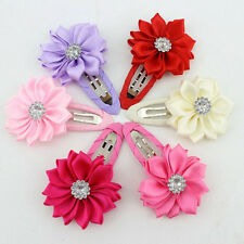 1pair Cute Baby Girls Flower Hair Clips Toddler Hairpins Accessories