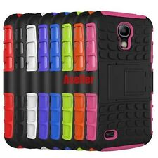 For Samsung Galaxy S4 3D 2-Layer Shock Skip Proof Grenade Rugged Impact TPU Case