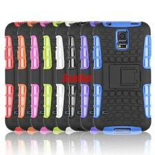 For Samsung Galaxy S5 3D 2-Layer Shock Skip Proof Grenade Rugged Impact TPU Case