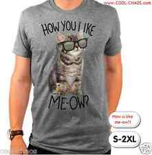Hip Cat Sunglasses Kitten T-Shirt Men's S-M-L-XL-2X HOW YOU LIKE MEOW! LOWBROW