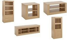 Living Room Oak Furniture Set Display Cabinet Drawer TV Unit Coffee Lamp Table