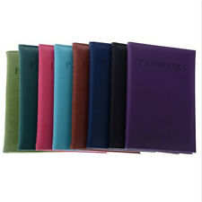 Travel Utility Simple Passport ID Card Cover Holder Case Protector Skin Leather