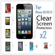 2PCS Ultral Clear HD LCD Screen Protector Film W/ Clean Cloth For Various Phones