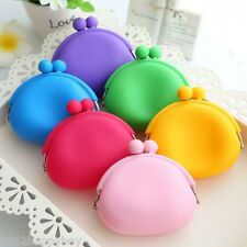 New Silicone Round Coin Purses Wallet Card Rubber Key Phone Frog Design Bag Case