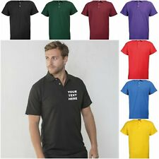 NEW RTY WORKWEAR PERSONALISED CUSTOM PRINTED COMPANY POLO SHIRTS SIZES 6XL-10XL