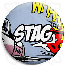 Stag - 25mm Comic Wedding Button Badge with Fridge Magnet Option