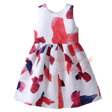 Baby Girls Summer Dress Fashion Princess Pageant Prom Flower Girl Dresses 3-8Y