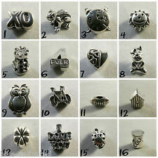 Silver Plated Charm Beads For European Charms Bracelets *Various Designs* #2