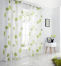 Tuscany Lined Voile Curtains, Eyelet Top, Fresh Printed Flowers, 4 Colours